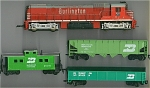 Burlington & Burlington Northern Set Of 4 Ho Scale
