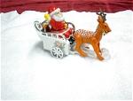 Santa, Sleigh And Reindeer Wind Up Toy
