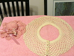 Sun Bonnet Pin Cushion And Dish Doily Scarf