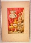 Vintage 19th C. Color Engraving-examples Medieval Art Decorative Items