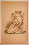 Vintage 19th C.handcolored Lithograph-stillife With Fan