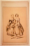 Vintage Mid-19th C. Fashion Print-lithograph