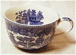Vintage C.1950's Blue Willow Coffee Cup-japan