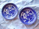 Blue Willow Saucers-japan Lot Of 2