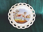 Vintage Bohemia Reticulated Plate-house On Lake Scene