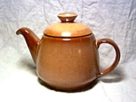 Frankoma Teapot Brown Satin Pattern