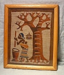 African Style Batik Framed-mother W/baby