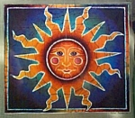 Vintage Retro Style Sun Decal/sticker
