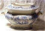 Flow Blue Nonpareil Sauce Or Sugar Bowl-mayer C.1850