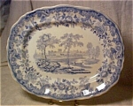 Copeland-spode Flow Blue Castle Scene Tureen Underplate