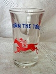 Down The Track-racehorse Shotglass
