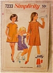 Simplicity Pattern Jiffy Girl's Dress1967
