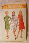 Vintage Simplicity Ladies Dress Pattern 1972 Size 14
