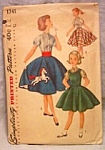 Vintage Girl's Jumper, Blouse And Skirt Pattern 1956 Size 12