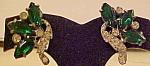 Pot Metal Earrings With Rhinestones