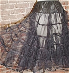 Petticoat Black 1950s Slip Cancan Retro Theatre