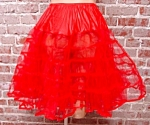Red Petticoat 1950s Crinoline Costume Theatre Dance