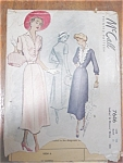 Vintage 40s-50s Dress Pattern Size 18 Buttons