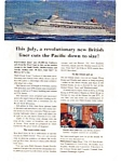 P & O Orient Lines Canberra Ad