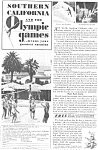 Olympics Southern California 1932 Ad