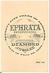 Ephrata Pennsylvania Diamond Jubilee Book