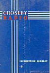 Crosley Radio Instruction Booklet