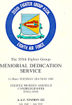 355th Fighter Group Dedication Service Booklet