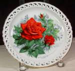 American Spirit 1988 Rose Of Year,collector Plate