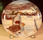 The Gray Partridge Collector Plate By Wayne Anderson