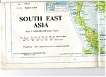Map Southeast Asia, India, Borneo 1968