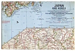 Japan And Korea Map Dec 1960
