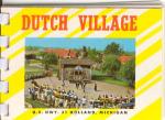 Dutch Village Holland Mi Souvenir Folder