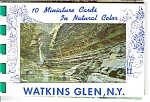 Watkins Glen Ny Mini Cards Souvenir Folder