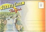 Ausable Chasm, Ny Linen Souvenir Folder