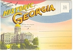Historic Georgia Linen Souvenir Folder