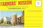 Farmer's Museum, Cooperstown, Ny Souvenir Folder
