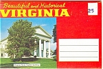 Beautiful And Historical Virginia Souvenir Folder