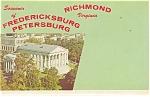 Fredericksburg, Richmond Virginia Souvenir Folder