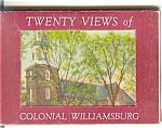 Colonial Williamsburg, Va Souvenir Folder 20 Linen Vie