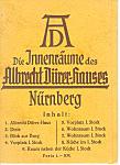 Albrecht Durer House Nurnberg Vintage Souvenir Folder