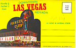 Downtown Las Vegas, Nevada Souvenir Folder Cars 50s