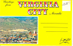 Virginia City, Nevada Souvenir Folder Cars 40s 50s