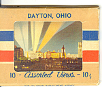 Dayton,ohio, Linen Souvenir Folder
