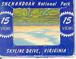 Skyline Drive, Virginia, Linen Souvenir Folder