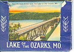 Lake Of The Ozarks, Mo, Linen Souvenir Folder