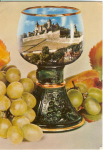 Grapes And Wine Goblet German Postcard
