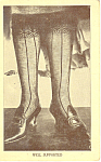Lady In Fancy Stockings Postcard 1913