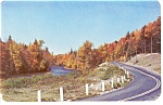 Autumn River And Highway Scene Postcard