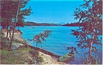 Lake Scene Rowboat And Beach Postcard