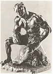 Rodin Sculpture L'athlete Postcard